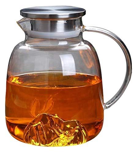 SKYEI Kettle Kettle 1700ml / 57.49oz Jarra de Vidrio de Gran Capacidad Alta Resistencia al Calor CARAFA FRATE para Goteo para Botellas de Bebidas con Hielo para la Taza de té de la Flor (Color : B)