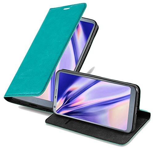 Cadorabo Funda Libro para LG G6 en Turquesa Petrol - Cubierta Proteccíon con Cierre Magnético, Tarjetero y Función de Suporte - Etui Case Cover Carcasa