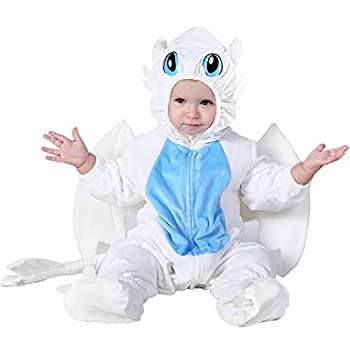 Hsctek Baby Dragon Costume Toddler Dragon Costume for Baby Boys Girls Baby Halloween Costume for Infant Newborn 18-24Months