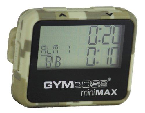 Gymboss miniMAX Intervalltimer und Stoppuhr Camouflage/Hellbraun SOFTBESCHICHTUNG