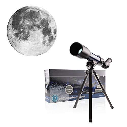 WXFXBKJ Astronomische Teleskope, für Erwachsene Anfänger Kinder, 50-mm-Apertur-Teleskop mit Stativ, astronomischem Brechungs-Teleskop-Travel-Teleskop-Geschenke