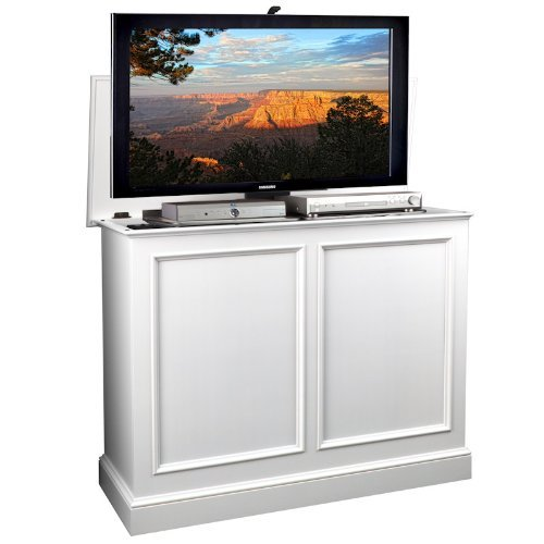 TVLiftCabinet, Inc Carousel White TV Lift Cabinet
