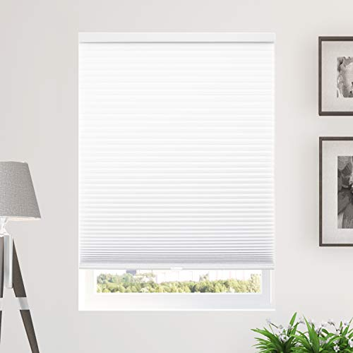 CHICOLOGY Cordless Cellular Shades Privacy Single Cell Window Blind, 46' W X 48' H, Morning Mist