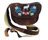 Alpin-Trachten Trachtentasche Damentasche Schultertasche Dirndl Tasche mit Stickerei (Bunt)