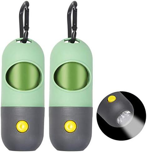 2PCS Dog Poop Bag Dispenser LED Dog Poop Bag Holder Pet Waste Bag Dispenser for Leash with Sturdy product image