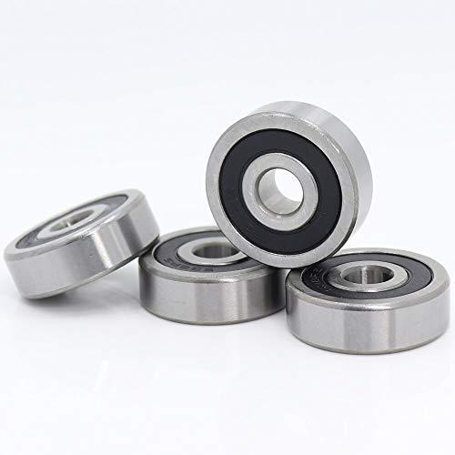 BRDI00327 Bearings 638RS Bearing 8x28x9 mm (4 Pcs) ABEC-1 Grade 638-2RS Miniature 638 RS Ball Bearings