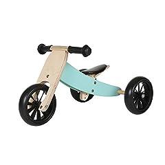 Bandits & Angels runner bike / houten balansfiets 4-in-1 Smartbike vanaf 1 jaar (mint)*