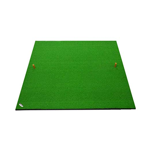 Find Bargain Y-LKUN Indoor and Outdoor Golf Pad Practice Swing Ball Pad,Golf Training Mat/Golf Fairway Mats/Golf Practice Mat/Golf Fairway Mats with Golf Ball and Rubber Tee 100 100cm Sports Outdoors