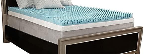 Comfort Essentials 1.5 Gel Reversible Memory Foam Topper, Queen