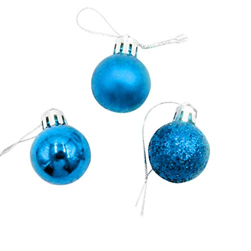 Goodtrade8 Clearance Christmas Hanging Ornament, 24Pcs 3cm Festival Christmas Ball Pendant Christmas Tree DIY Decoration Wedding Party Decor Best Gift Home Supplies (Blue)