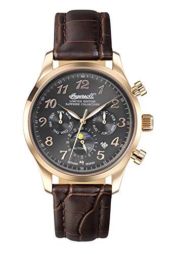 Ingersoll Damen Analog Automatik Uhr mit Leder Armband IN1420RGU