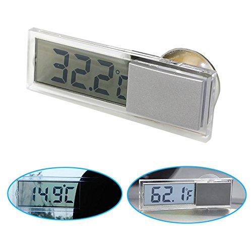 B63 KFZ Auto Digital Thermometer LCD Display Temperatur Klimaanlage mit Saugnapf, Geeignet für Haus, Auto, Fabriken und viele Orte