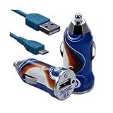 Seluxion–Cargador de coche mechero USB con cable Data para Sony Xperia SP con diseño cv15