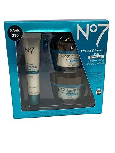 Boots No7 Protect & Perfect Intense Advanced 3 Piece Skincare System Serum Day & Night Cream SPF15