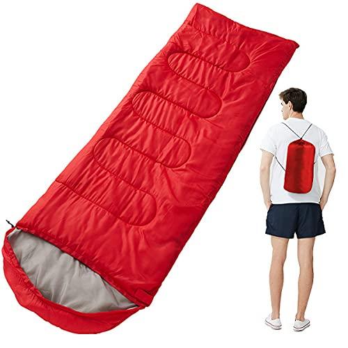 Stafeny Saco de dormir portátil ligero saco de dormir para adultos transpirable impermeable al aire libre manta saco de dormir suave relleno de algodón para viajar senderismo camping