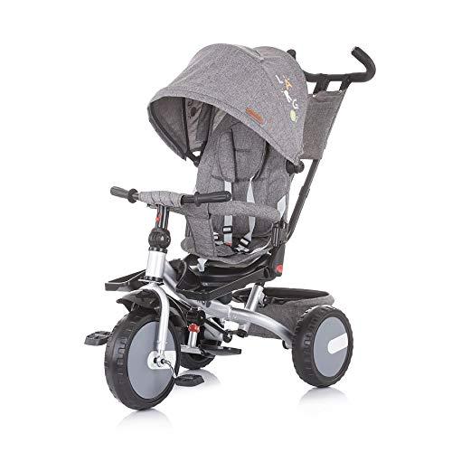Chipolino B-Ware 3 in 1 Tricycle Dreirad Largo einstellbar Schiebestange grau