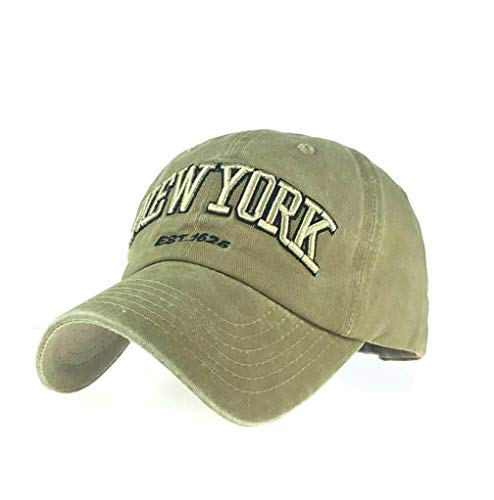 XibeiTrade Gorra de béisbol unisex de algodón bordado de Nueva York para...