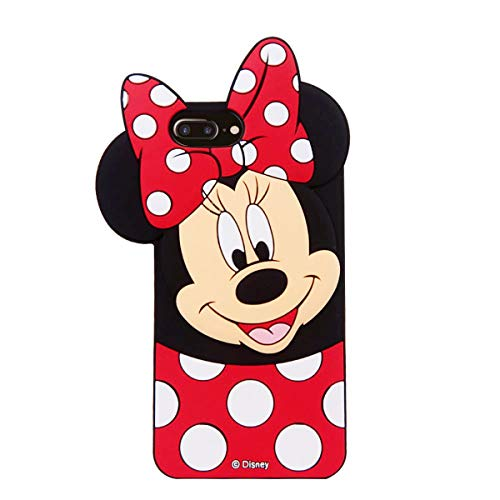 """Cases for iPhone 8 Plus, iPhone 7 Plus Case, iPhone 6S Plus /6 Plus Minnie 3D Cartoon Slim TPU Protective Shockproof Cover, Kids Girls Gifts Cases, Thick Protector Skin for 8 Plus/7 Plus/6S Plus/ 5.5"""""""