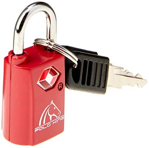 Cadeado para Bagagem TSA Polo King, Adulto Unissex, Vermelho