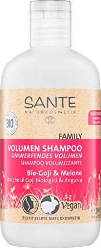 SANTE Naturkosmetik, Volumen Shampoo Bio-Goji & Melone,...