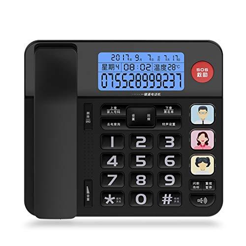 Unbekannt Festnetz Telefon Rural Environmental Vliestapete 3D Relief Studie Schlafzimmer Wohnzimmer Hintergrundbild (Color : Black)