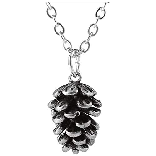 Case Cover Einfache Pine Cone Pflanze Anhänger Kette Pinienkernen Pflanze Specimen Halskette Mädchen-Geschenk