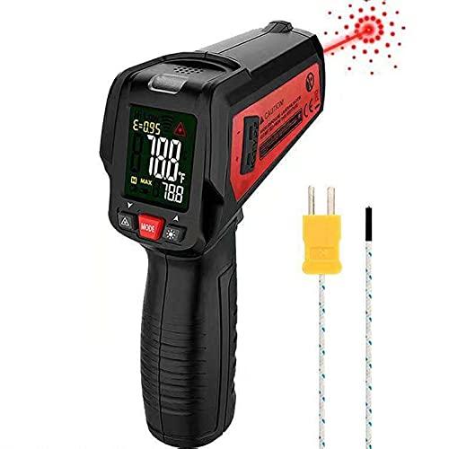 ZJXYYYzj Termómetro Infrarrojo,termómetro láser Digital IR Pistola de Temperatura -50 ° C ~ 580° C,para Cocinar/Barbacoa/Refrigerador