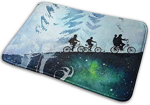 YONGYI Racing Away Ride Bike Mountain Forest Doormats Floor Mat Home Carpets Non-Slip Bath Rug Mat 15.8x23.6 Inch