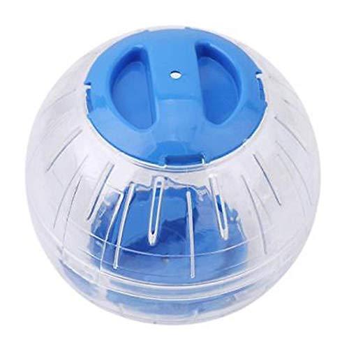 HJKND Bola Transparente Transpirable de 10 cm 2 Colores sin Soporte Producto para Mascotas de hámster Bola pequeña para Correr de plástico Apto para Mascotas pequeñas Rosa/Azul