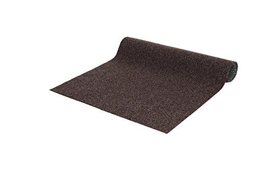andiamo Kunstrasen Field, grün, grau, braun, strapazierfähiger Rasenteppich mit Drainage-Noppen, Farbe:Braun, Größe:133 x 300 cm