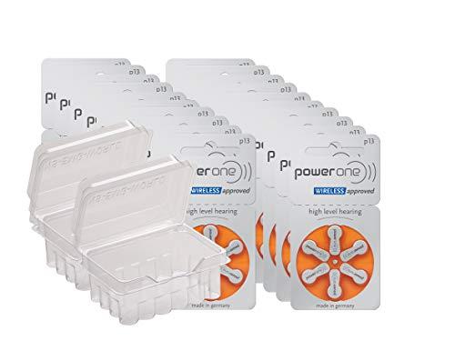 wns-emg-world Big Box Pack Powerone Typ 13 Hörgerätebatterie Zinc Air PR48 ZL2, 120 Stück
