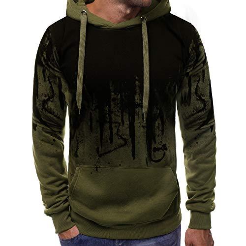Zottom Color Gradient Männer Pullover Langarm-Kapuzenpulli übersteigt Blusen