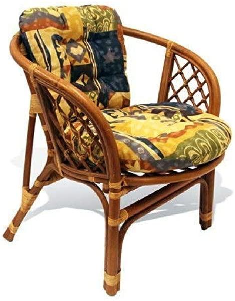 Bahama Handmade Rattan Wicker Chair With Cushion