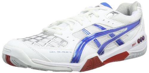 Asics GEL-BLADE 4 R305N Herren Hallenschuhe, Weiß (weiß, / blau / rot), EU 45