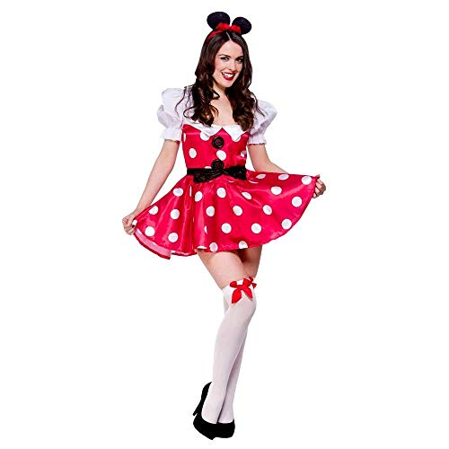 Sexy Mouse Ladies Minnie Fancy Dress Costume Adults Fairy Tale Outfit 6-24