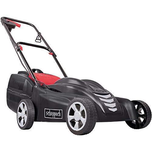 Scheppach 5911306901 Mäher / Rasenmäher / Elektro - Rasenmäher EMP-38 | für kleinere und mittlere Gärten, 2in1: Mähen und Fangen, wartungsarm, leicht und kompakt für einfache Handhabung | 1,8 PS Motor