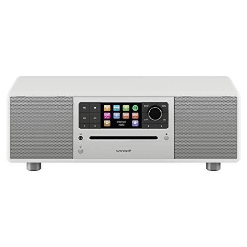 sonoro Prestige Design Kompaktanlage 2018 (FM/DAB+, CD, AUX, Bluetooth, Spotify) Weiß