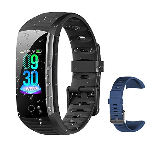 Fitness Tracker Activity Tracker Watch, Waterproof Activity Tracker Smart Watch Remote Photography Heart Rate Blood Pressure Blood Oxygen Monitor Step Calorie Counter Pedometer for Women Men Kids