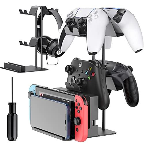 OIVO Soporte Universal para Mando, Soporte para Auriculares, Soporte para Mando para PS5 / PS4 / Xbox/Switch Pro, Soporte para Auriculares en la Mesa para Swtich, teléfono móvil