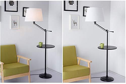 Staande lamp van ijzer, Noors met salontafel woonkamer eenvoudige moderne slaapkamer-bedlampje drie kleuren draaibaar licht E27 * 1 hoog 140-160 cm trekschakelaar uittrekbare hoogte afneembaar met sjaal