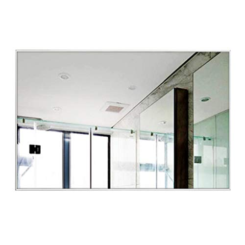 Vanity Shaving Espejos Rectangulares De Gran TamañO En La Sala De Estar Dormitorio Decorativo Pasillo Marco De Aluminio Blanco Espejo para Colgar En La Pared Horizontal O Vertical