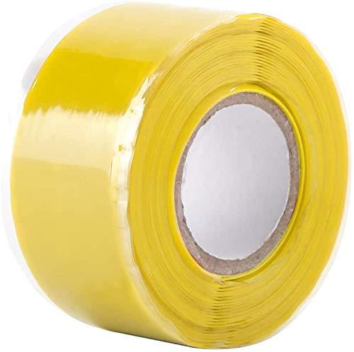 シリコンゴムテープ レスキューテープ 防水 テープ 絶縁シリコンテープ 自己融着 シールリーク パイプ 防水 無毒 難燃 耐寒 耐熱 超強力 耐摩耗性 絶縁保護 温度範囲 -50〜280℃ 幅25mm×長さ3m×厚さ0.5mm ホース修理 配線固定結束用 車の内装用