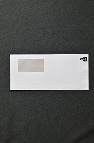 印刷透明封筒 長3 【500枚】 OPP 50μ(0.05mm) 表裏:グレーベタ 窓付 切手/筆記可 静電気防止処理テープ付き 折線付き 横120×縦235+フタ30mm印刷可