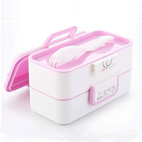 Fiambrera Box apilable for niños adultos, a prueba de fugas seguro for microondas envase de alimento, Fiambrera for Office escuela al aire libre disfrutar de un almuerzo caliente en el camino.(Color v