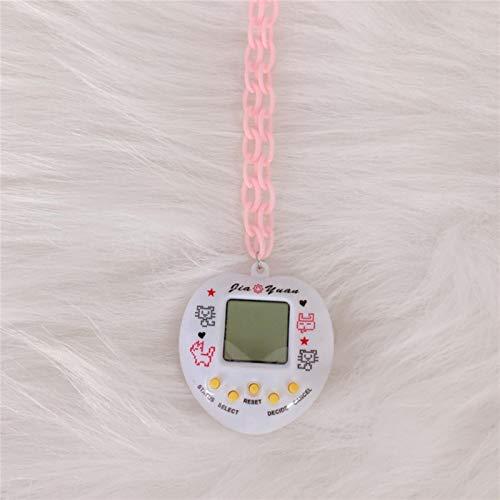 Unbekannt Elektronische Haustier Spiel Konsole Anhänger Halskette Für Frauen Männer Bunte Vintage Lustige Spielzeug Choker Halskette Harajuku Trendy Schmuck