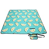 <span class='highlight'><span class='highlight'>SONGMICS</span></span> Picnic Blanket, 200 x 200 cm, Large Camping Picnic Rug and Mat for Beach, Park, Yard, Outdoors with Waterproof Layer, Machine Washable, Foldable, Lemon Pattern GCM87YJ