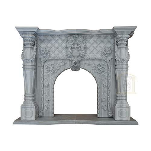 Pisa steen grijs marmer open haard