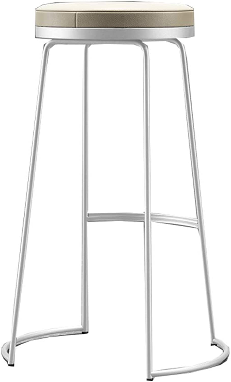 Bar Stool High Stool Dining Chair European High Stool Bar Stool Chair Simple Modern Bar Chair Fashion Bar Stool Bar Stool Leisure High Chair   High45 65 75cm   White (Size   High45cm)