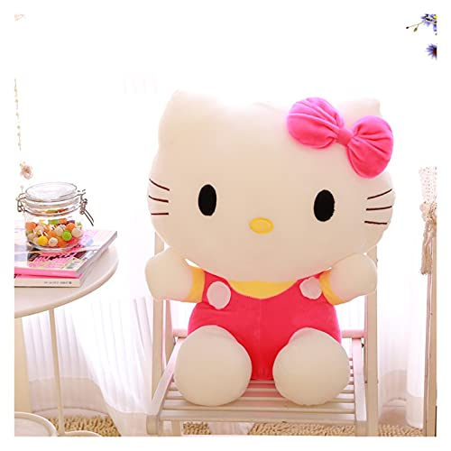 JSJJATF Juguete de Peluche Juguete de Peluche Hola KT Kittyed Cat Plushie Dolls Soft Stuffed Toys para niñas Niños Regalo de cumpleaños (Color : Pink, Height : 35cm)