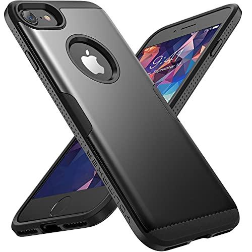 YOUMAKER Cover per iPhone 8/7 Custodia per Cellulare Impermeabile Antiurto Compatibile con iPhone 8 / iPhone 7 Completa a 360 Gradi con Protezione per Lo Schermo anticaduta (4,7 Pollici) -Nero
